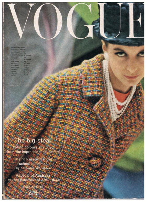 British Vogue Cover February 1963