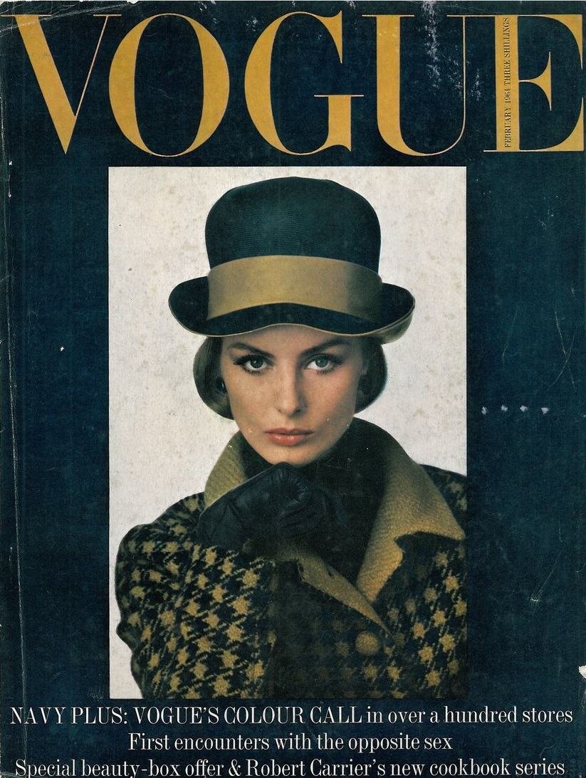 British Vogue Cover February 1964