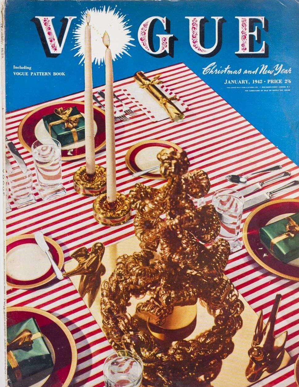 British Vogue Cover January 1942