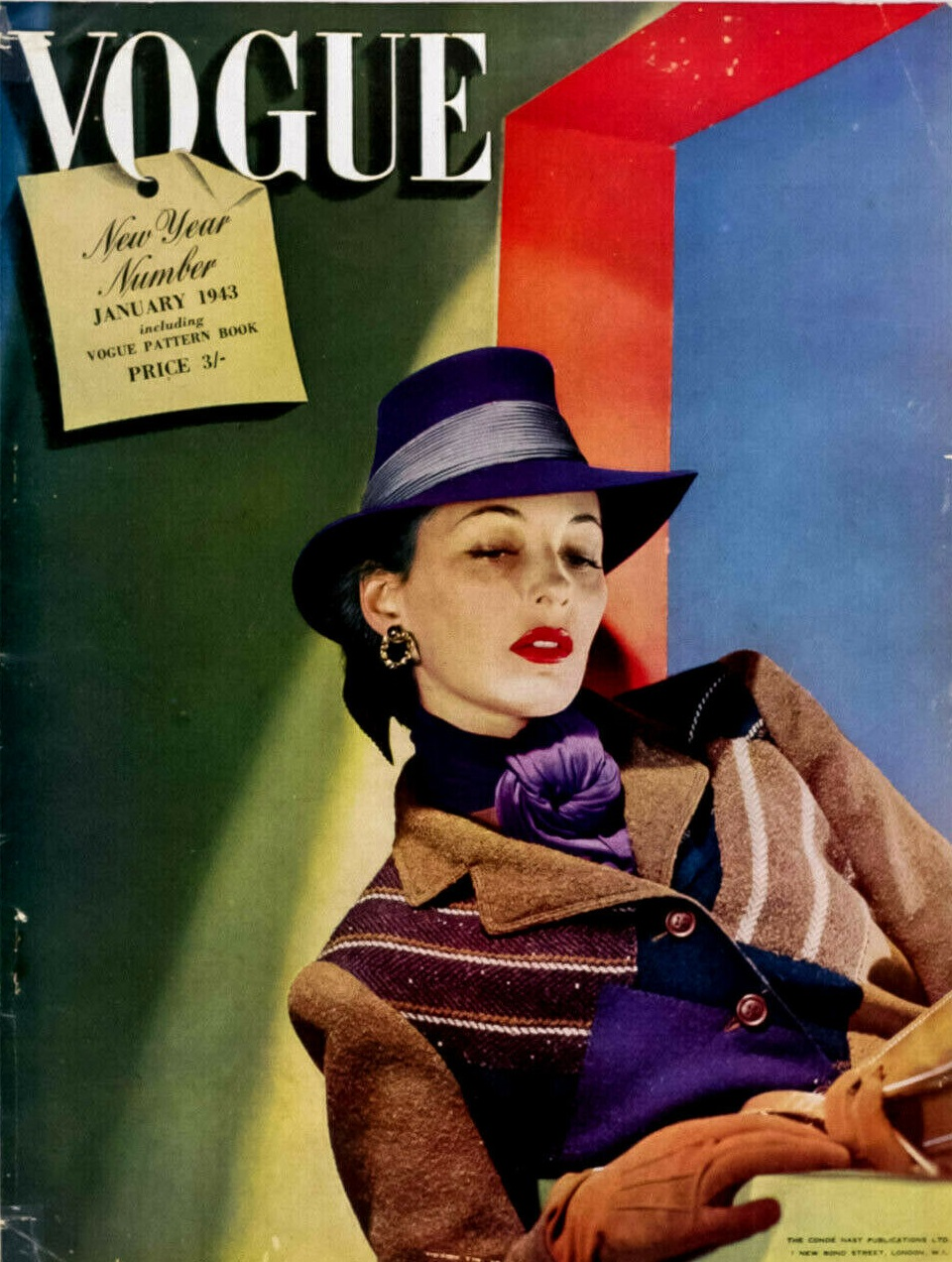 British Vogue Cover January 1943