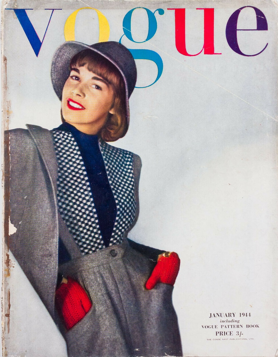 British Vogue Cover January 1944