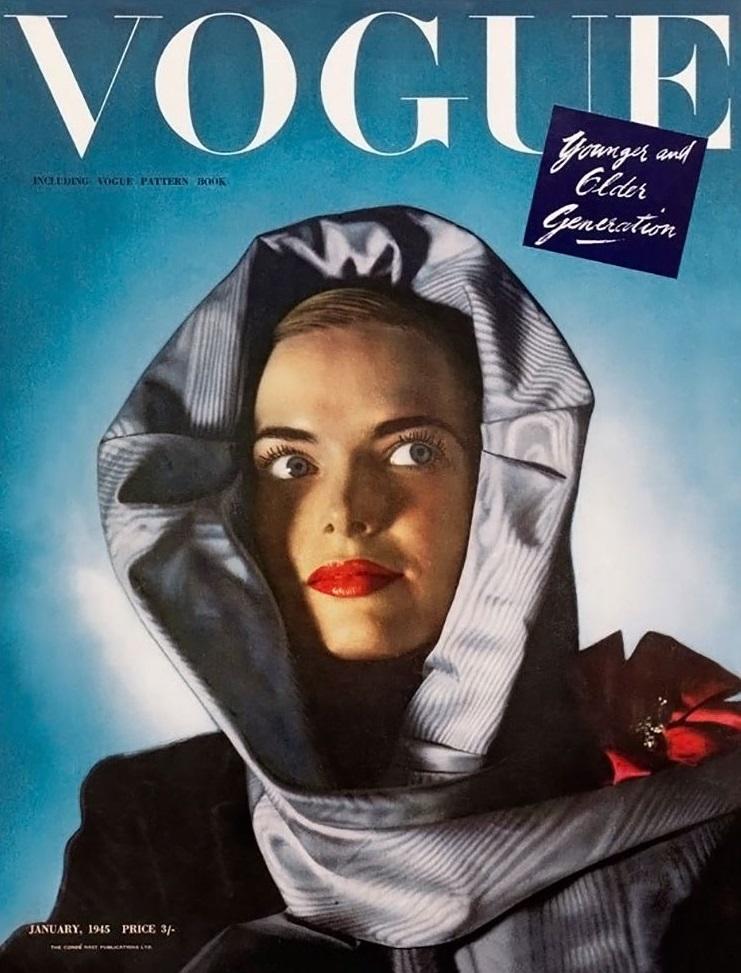 British Vogue Cover January 1945