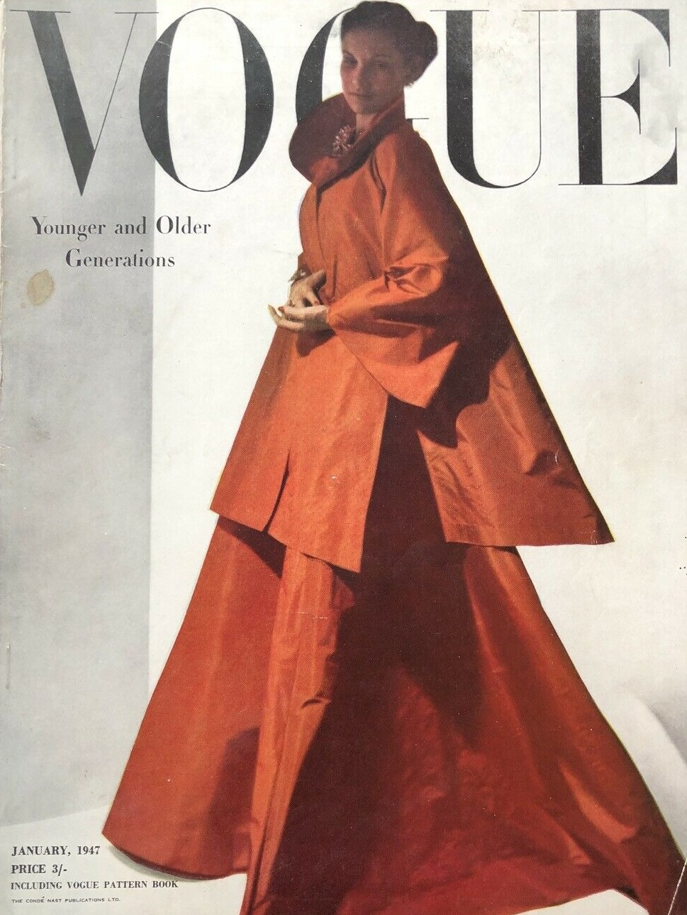 British Vogue Cover January 1947