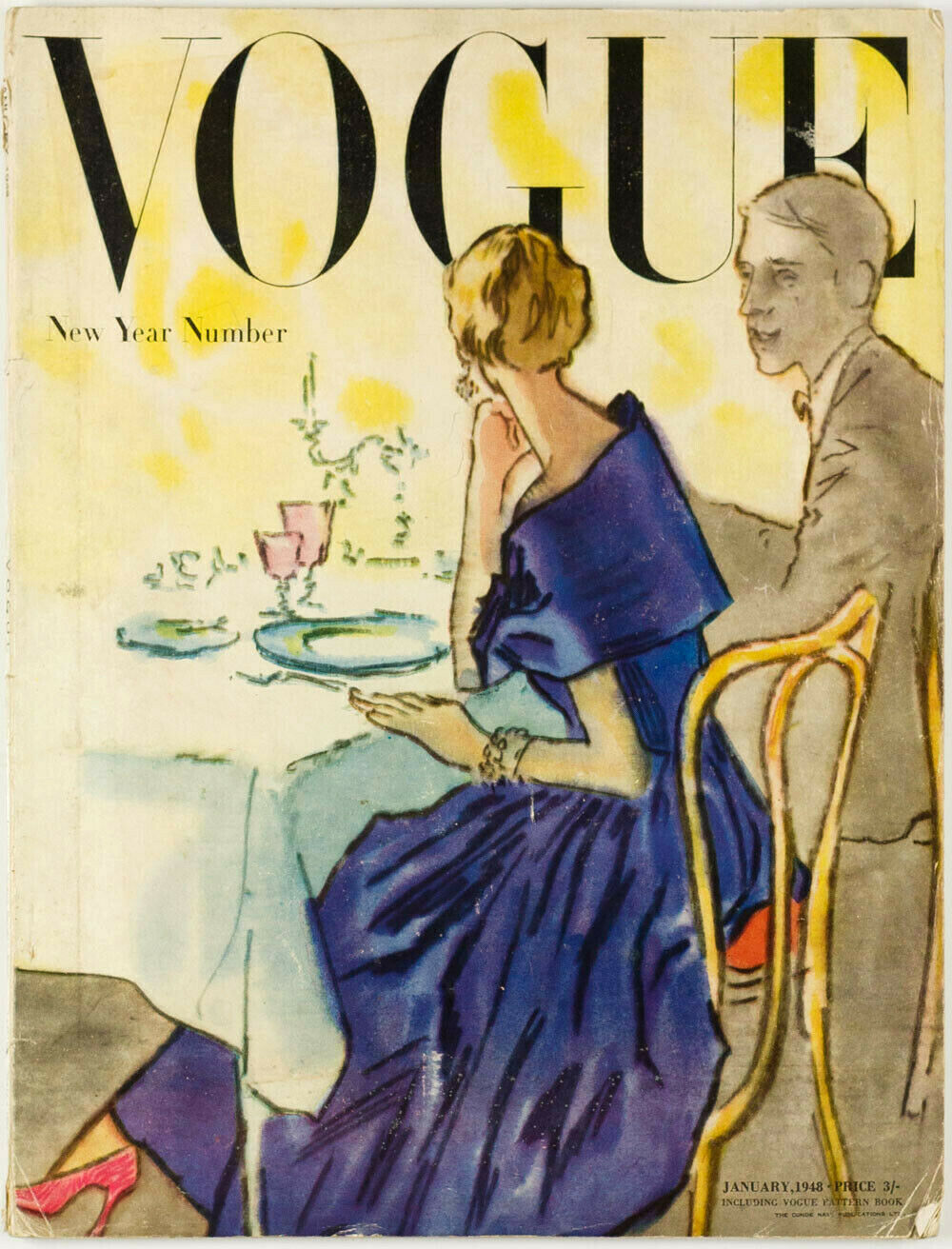 British Vogue Cover January 1948