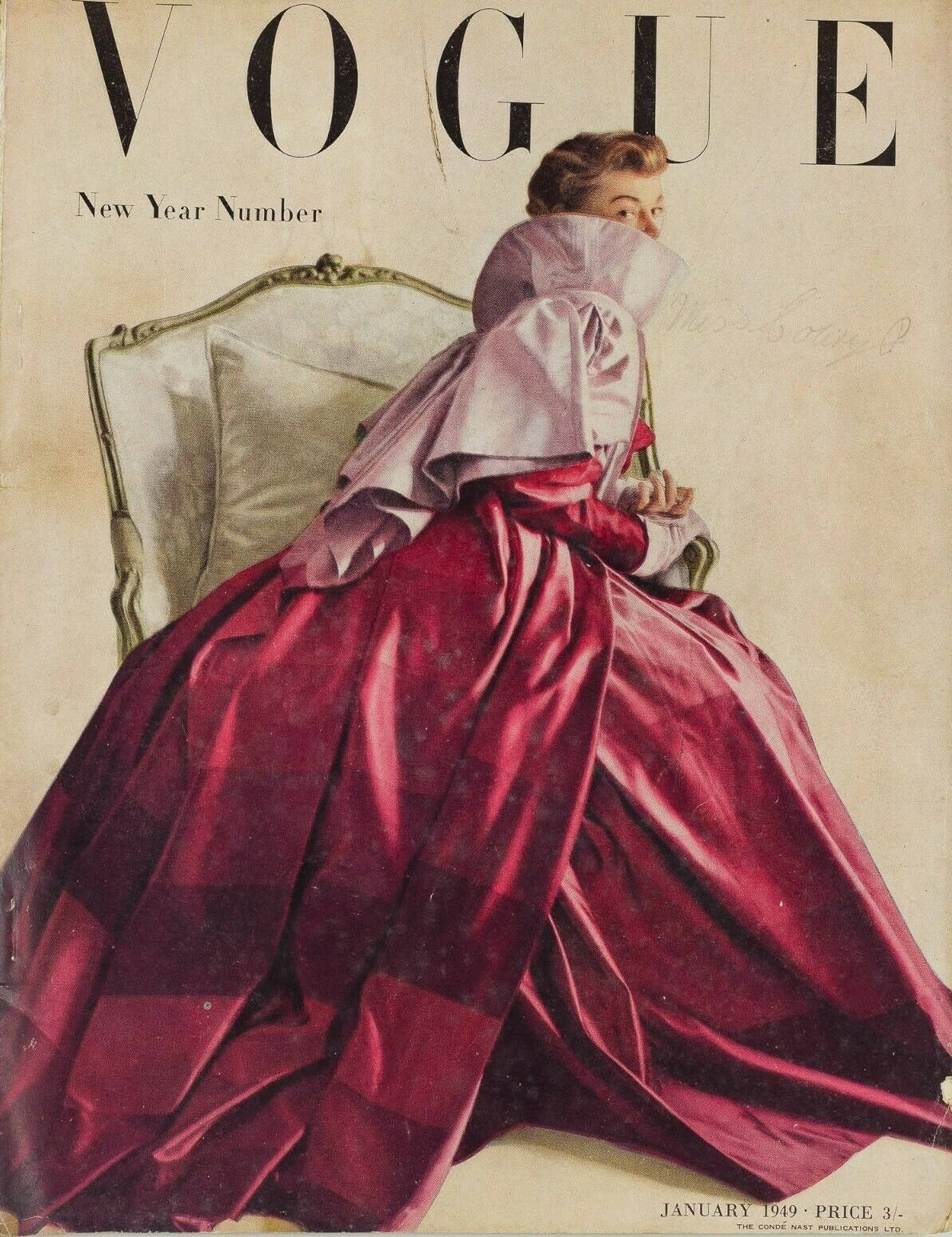 British Vogue Cover January 1949