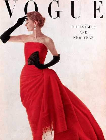British Vogue Cover January 1950