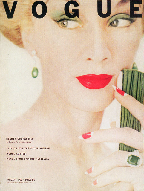 British Vogue Cover January 1952
