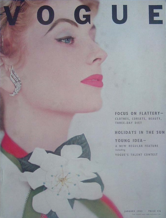 British Vogue Cover January 1953
