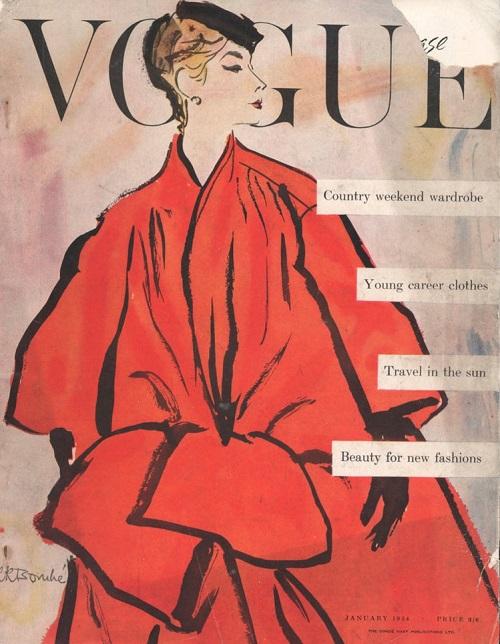 British Vogue Cover January 1954
