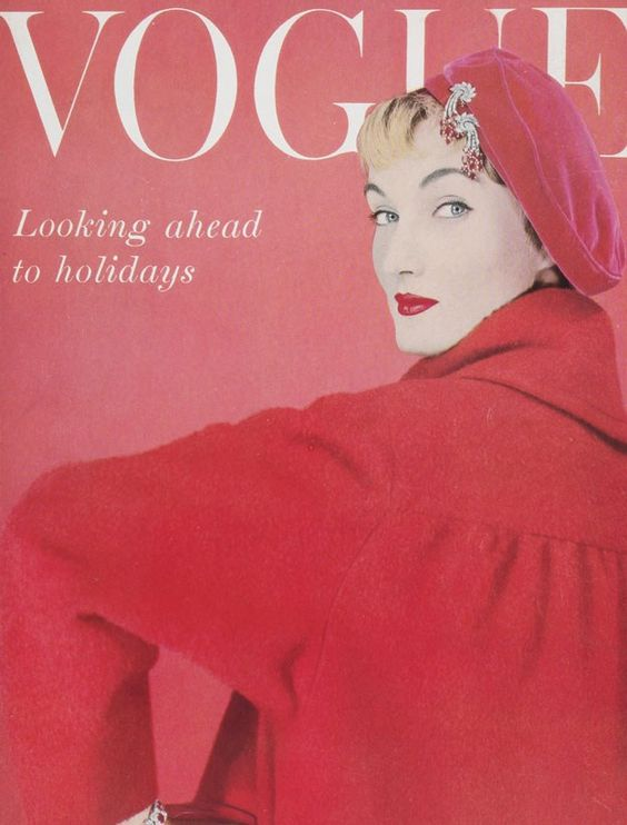 British Vogue Cover January 1955