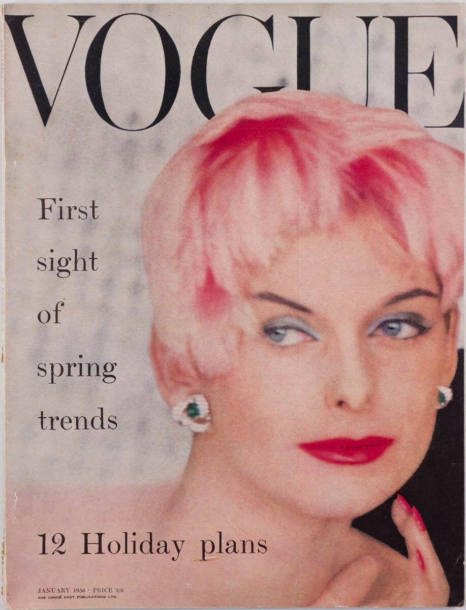British Vogue Cover January 1956