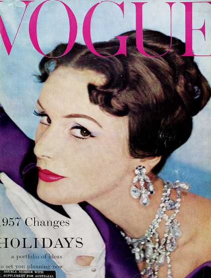 British Vogue Cover January 1957