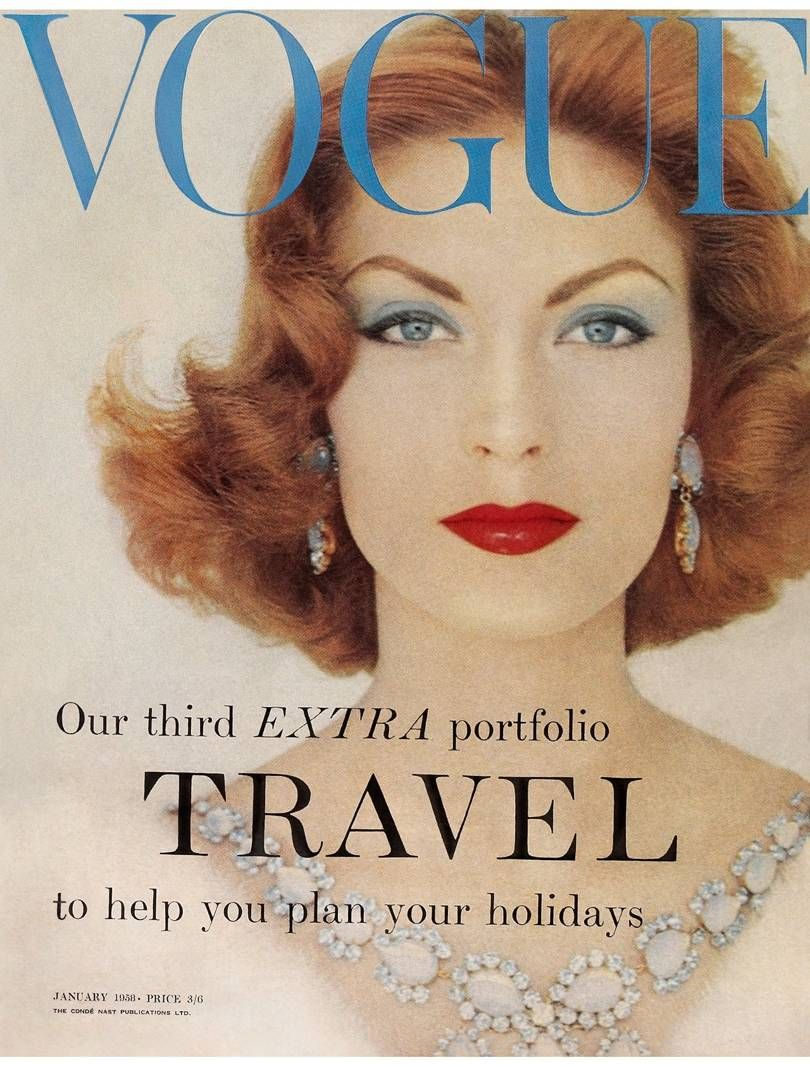 British Vogue Cover January 1958