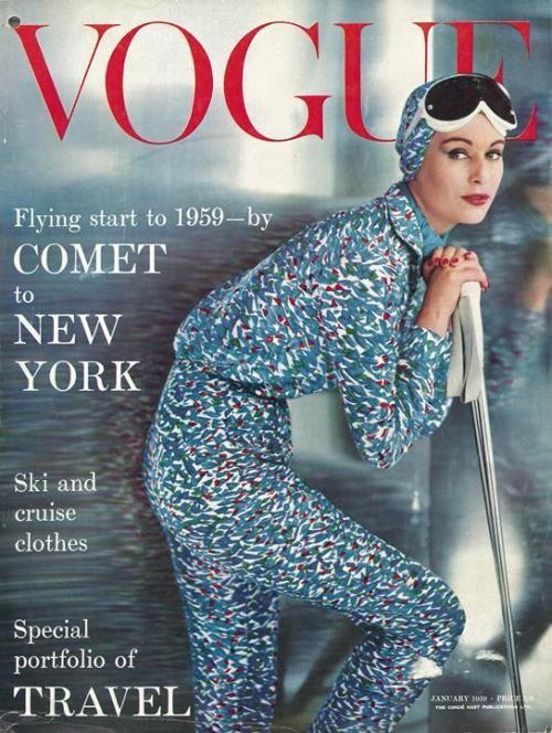 British Vogue Cover January 1959