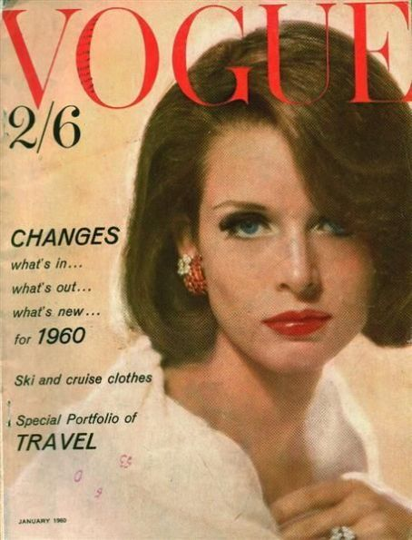 British Vogue Cover January 1960