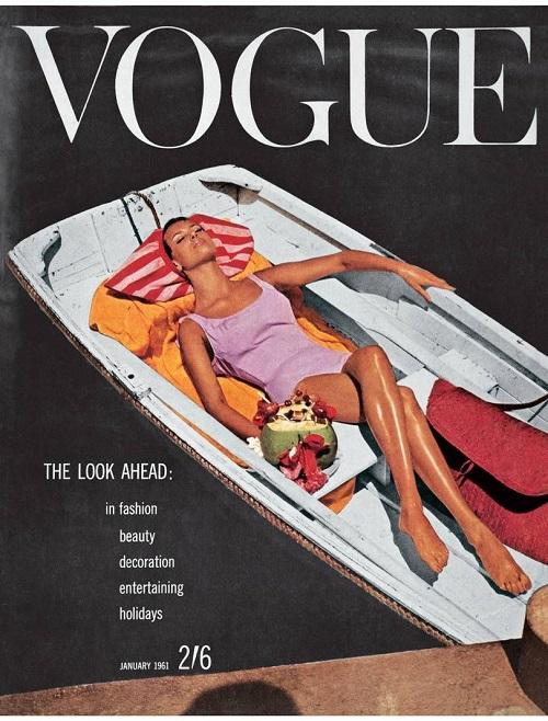 British Vogue Cover January 1961