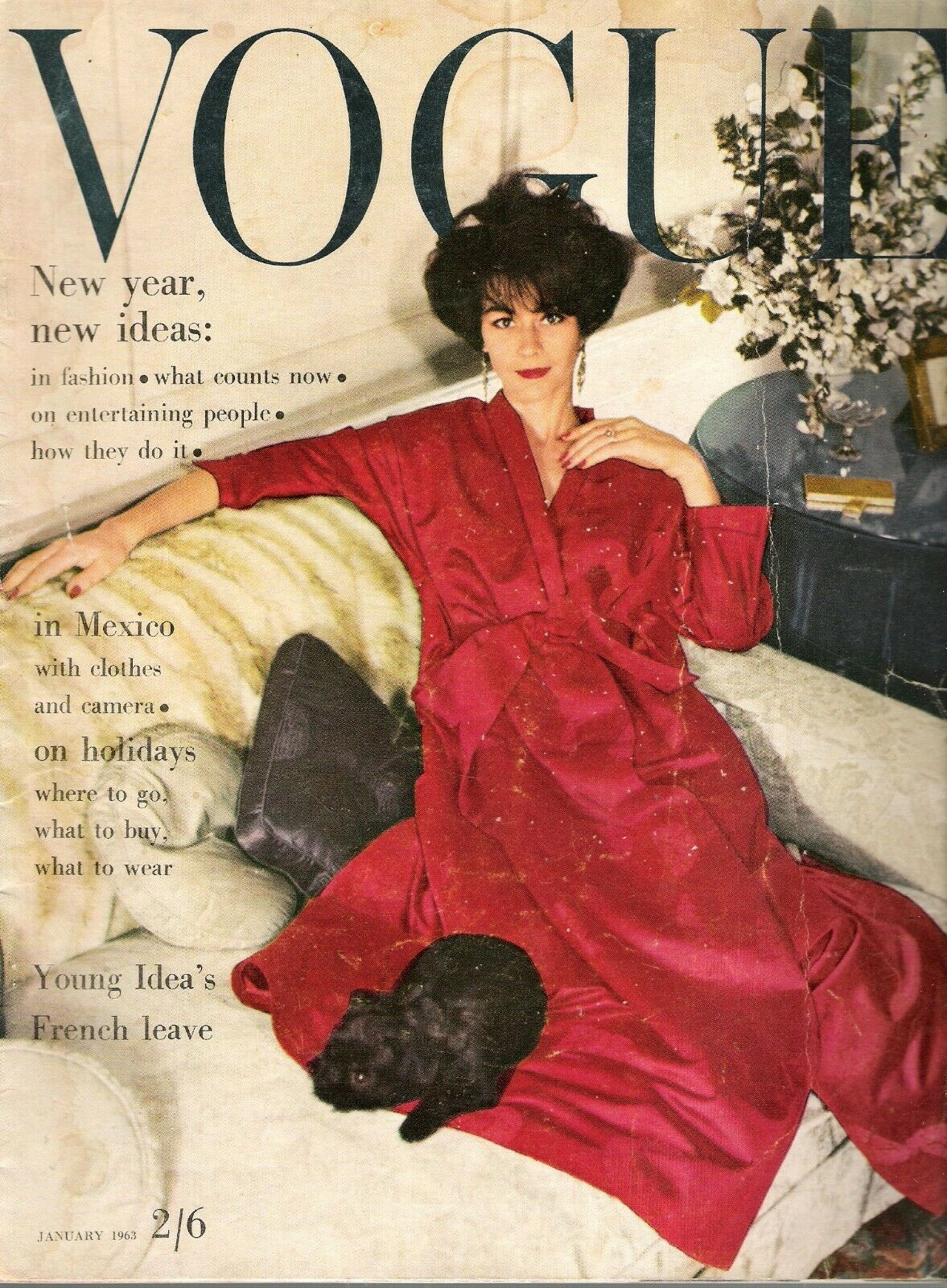 British Vogue Cover January 1963