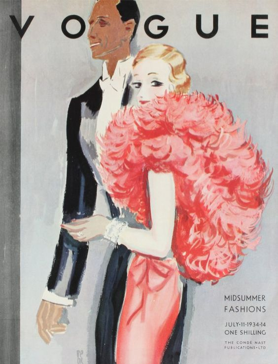 British Vogue Cover July 1934