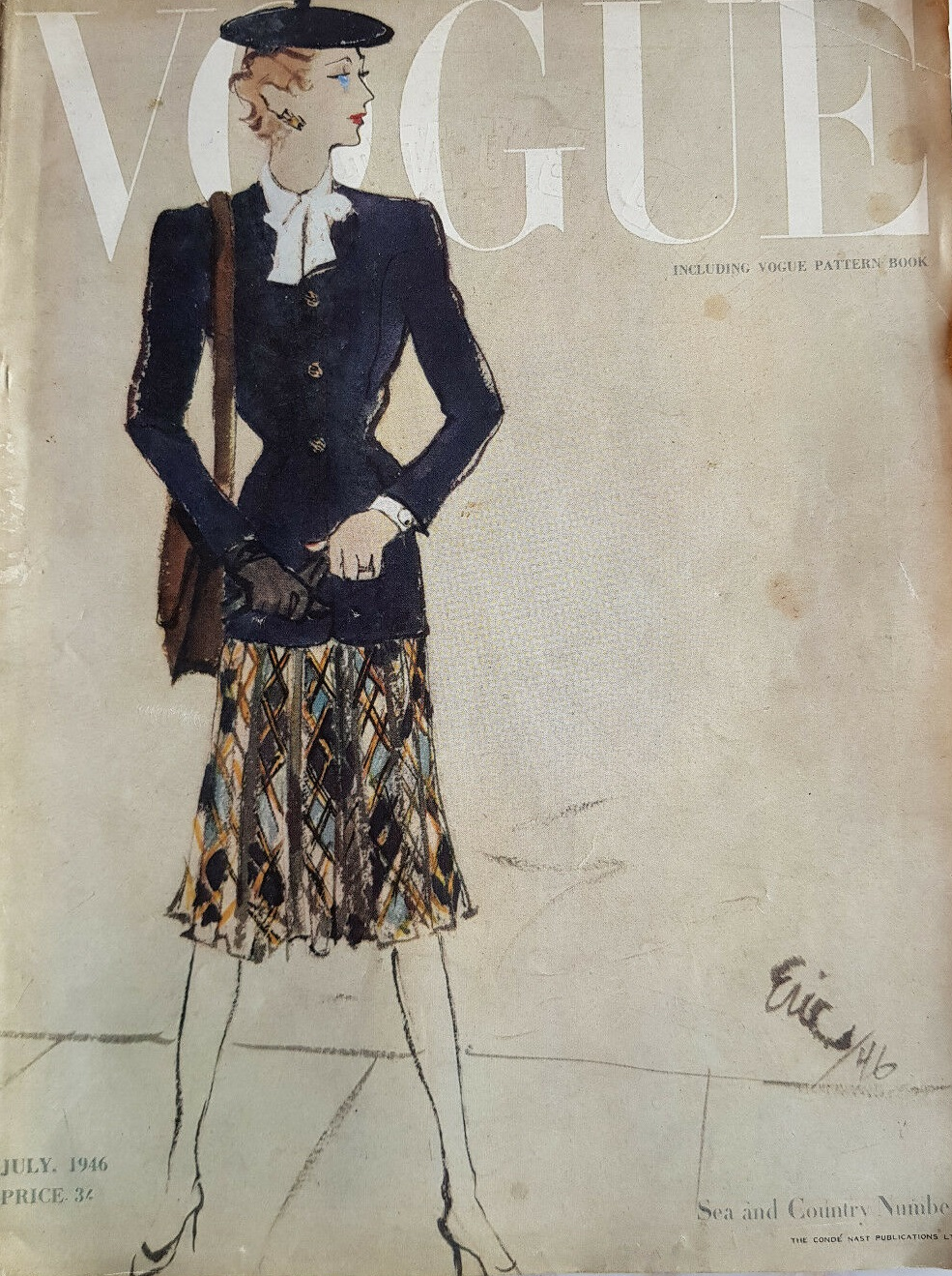British Vogue Cover July 1946