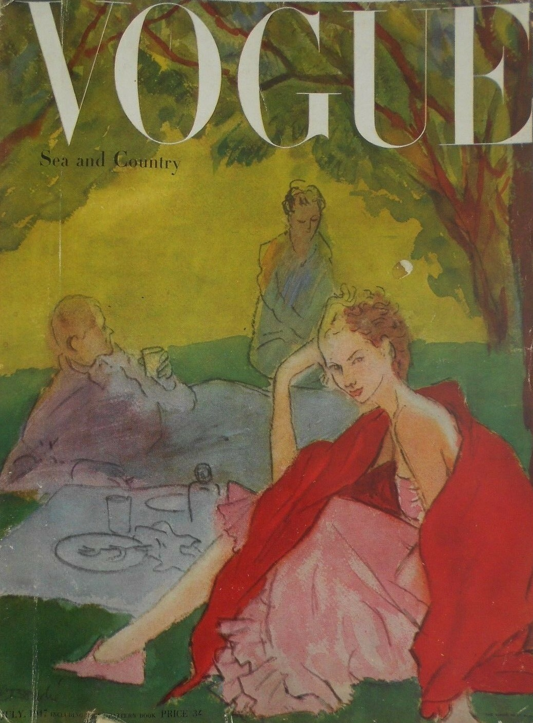 British Vogue Cover July 1947