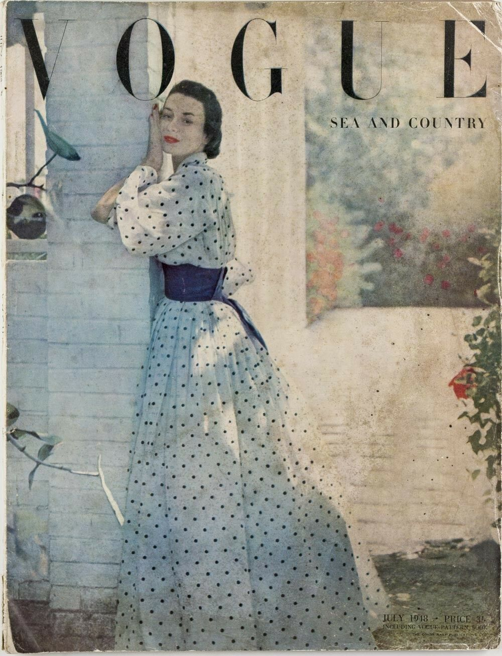 British Vogue Cover July 1948