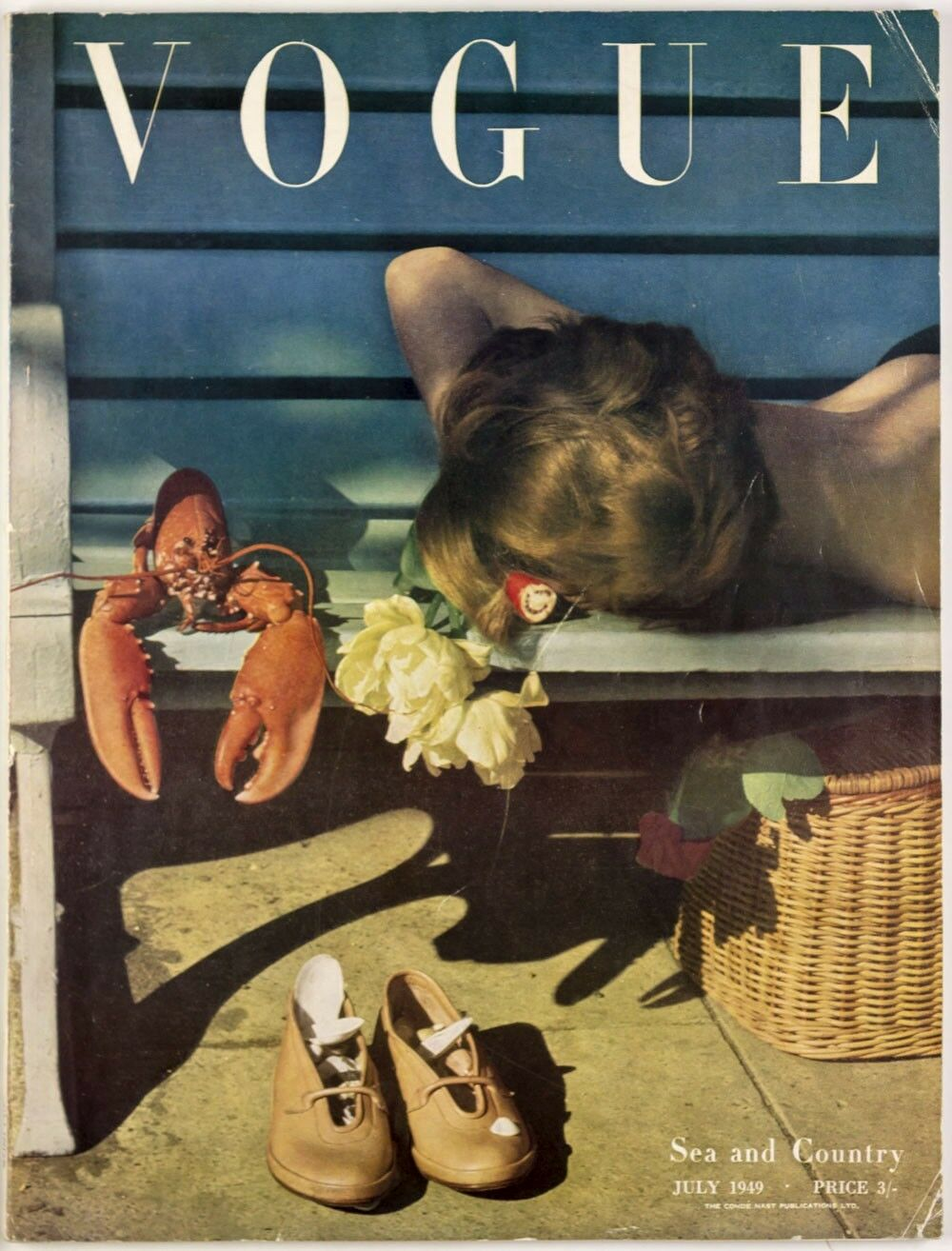 British Vogue Cover July 1949