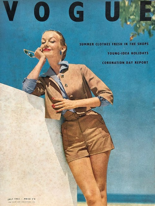 British Vogue Cover July 1953