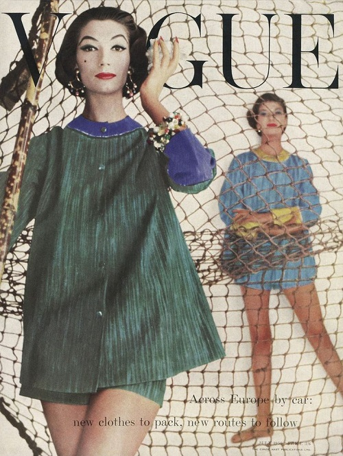 British Vogue Cover July 1956
