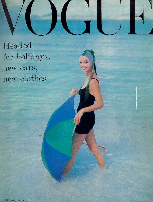 British Vogue Cover July 1957