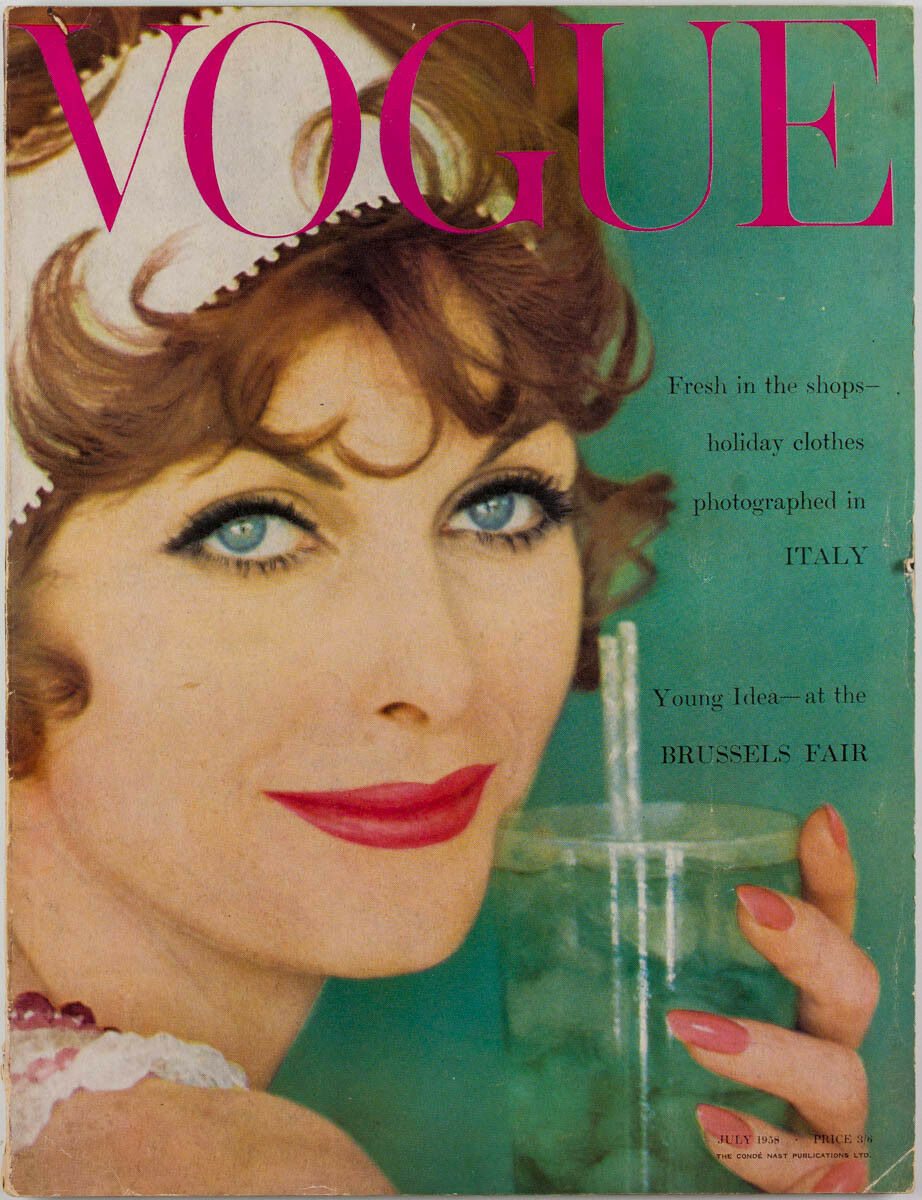 British Vogue Cover July 1958