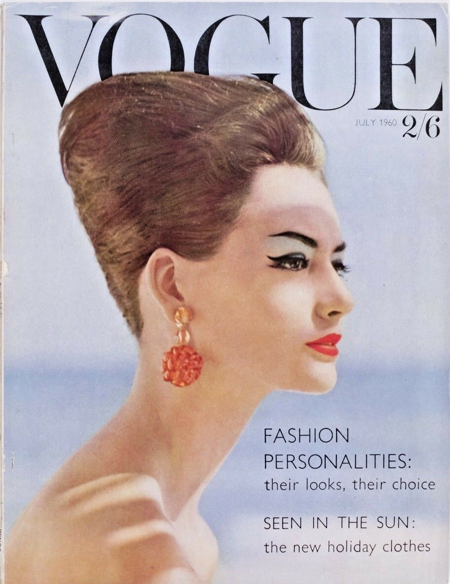 British Vogue Cover July 1960