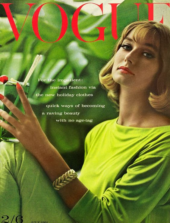 British Vogue Cover July 1961