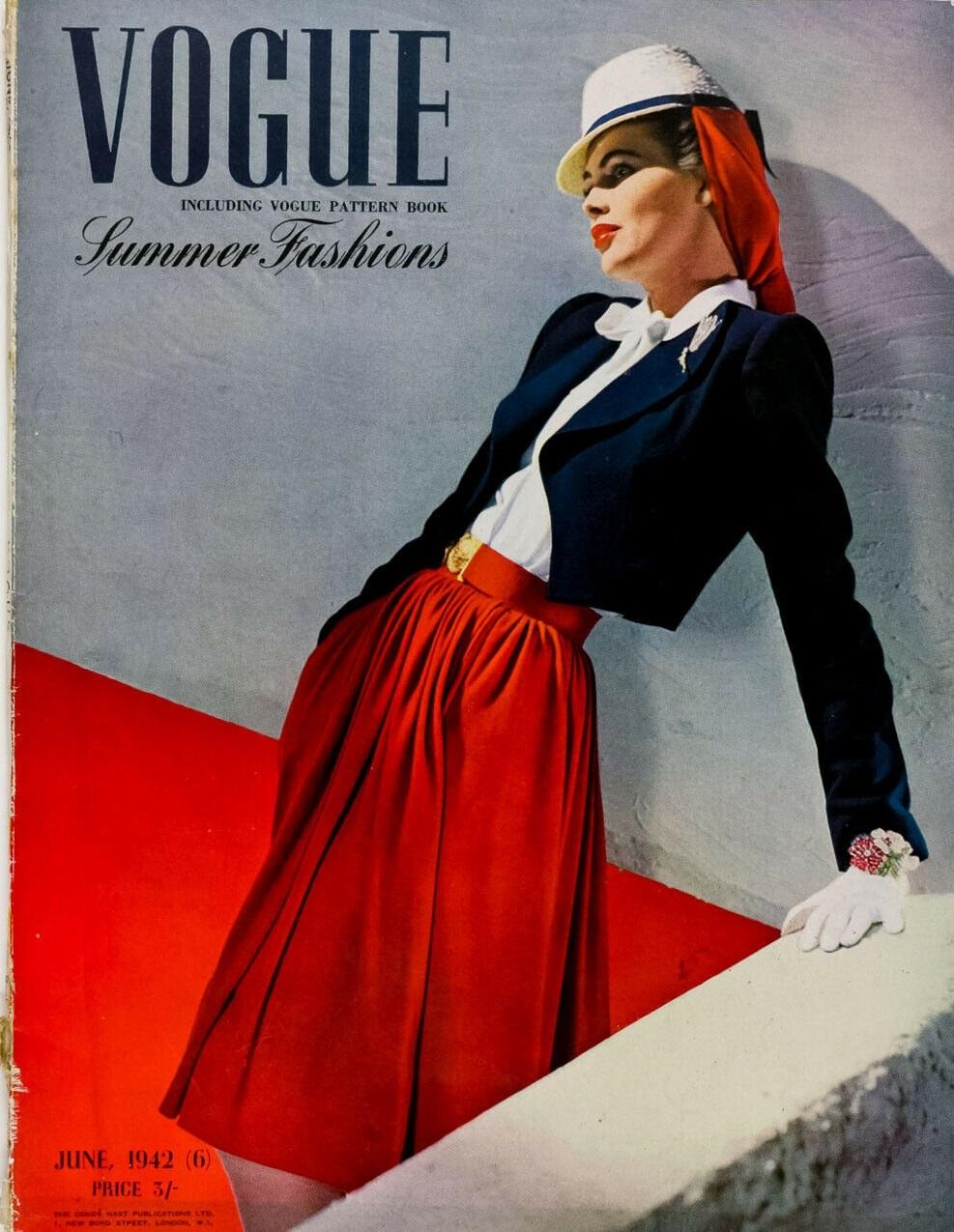 British Vogue Cover June 1942