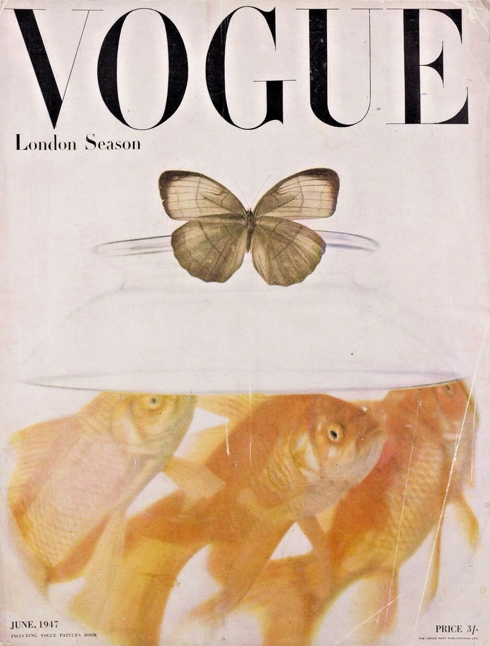 British Vogue Cover June 1947