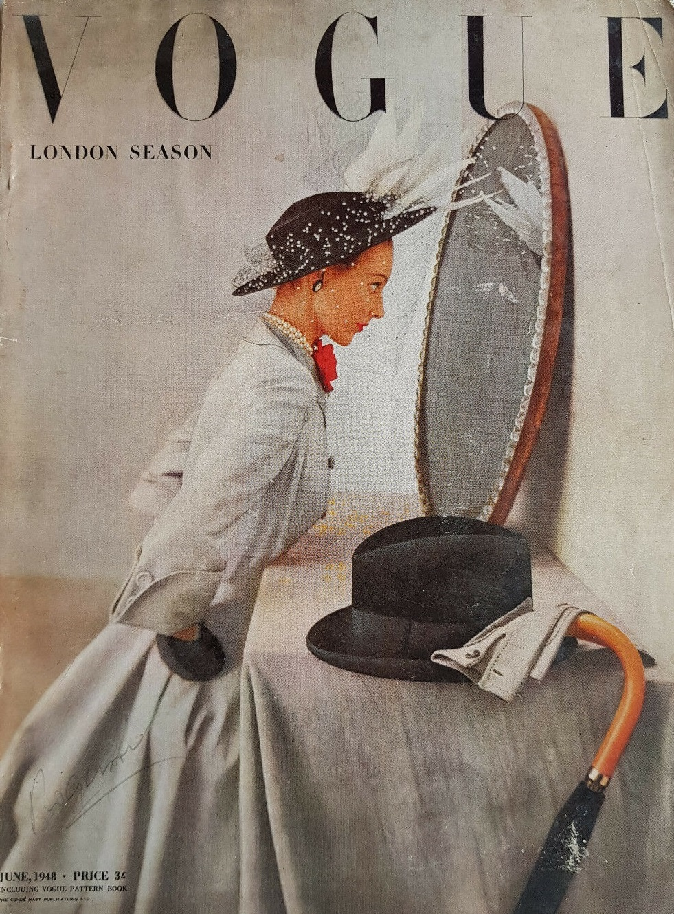 British Vogue Cover June 1948