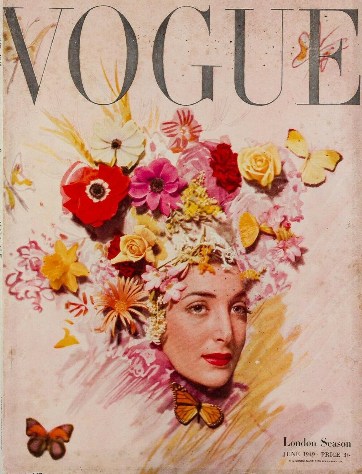 British Vogue Cover June 1949