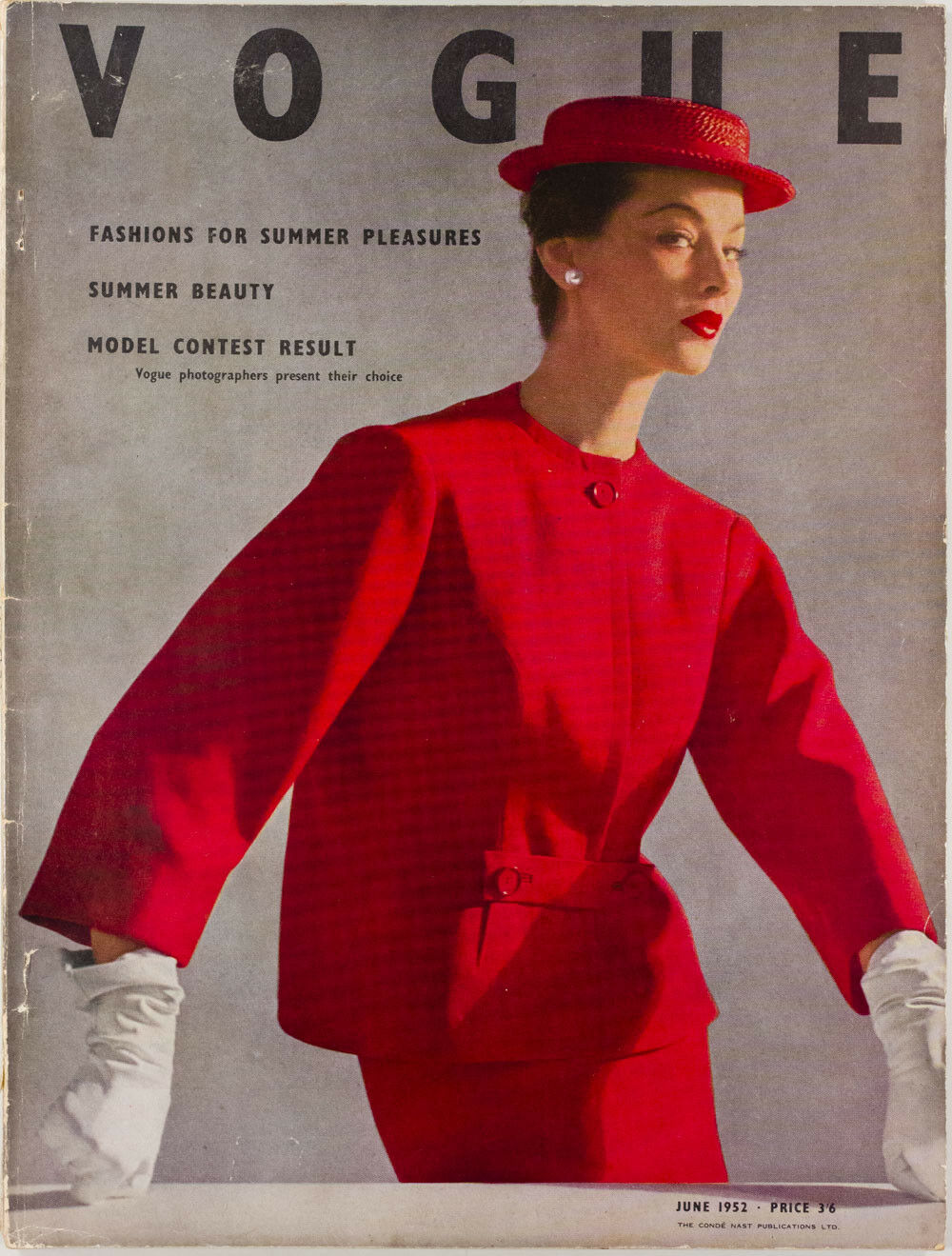 British Vogue Cover June 1952