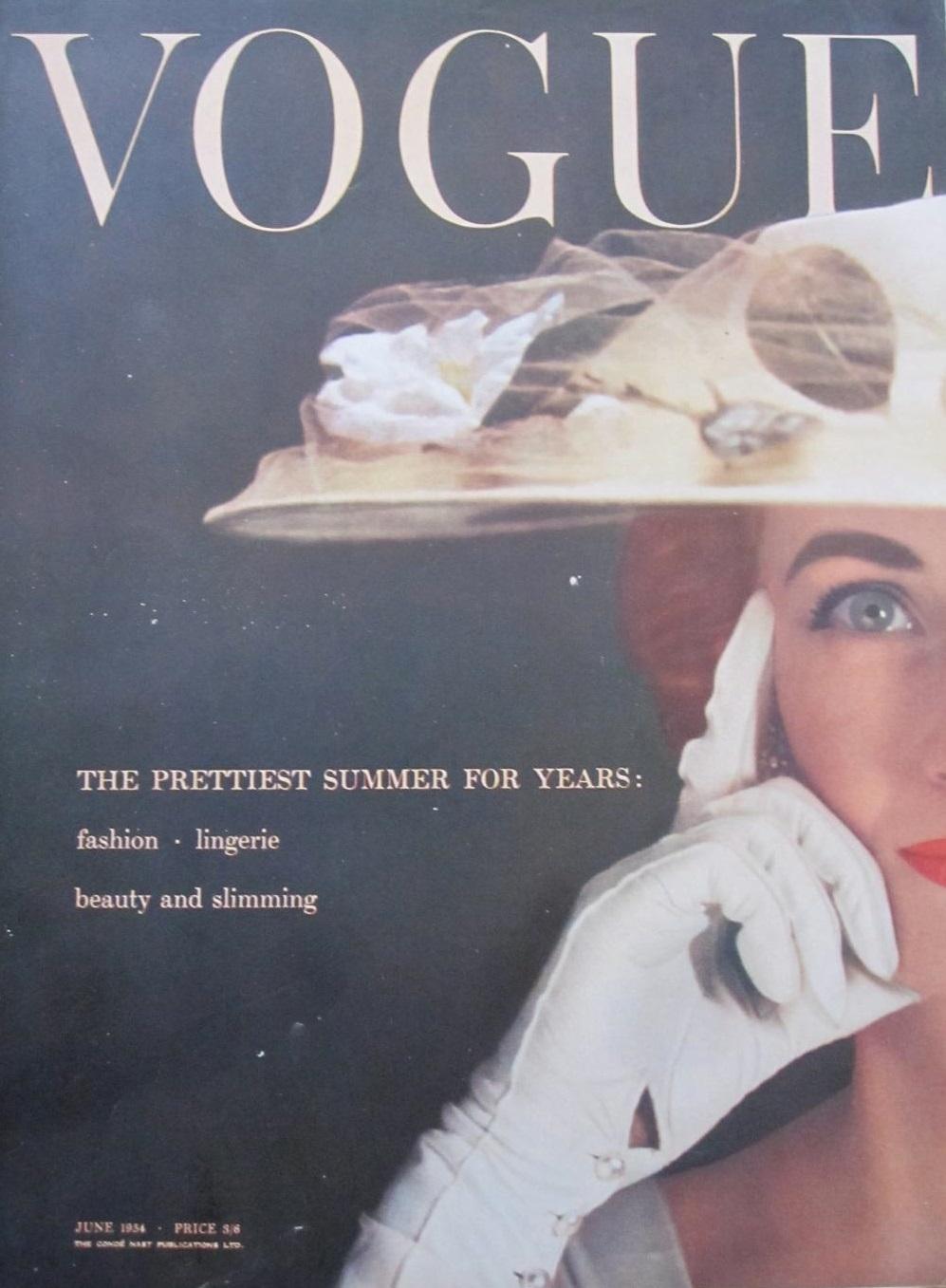 British Vogue Cover June 1954