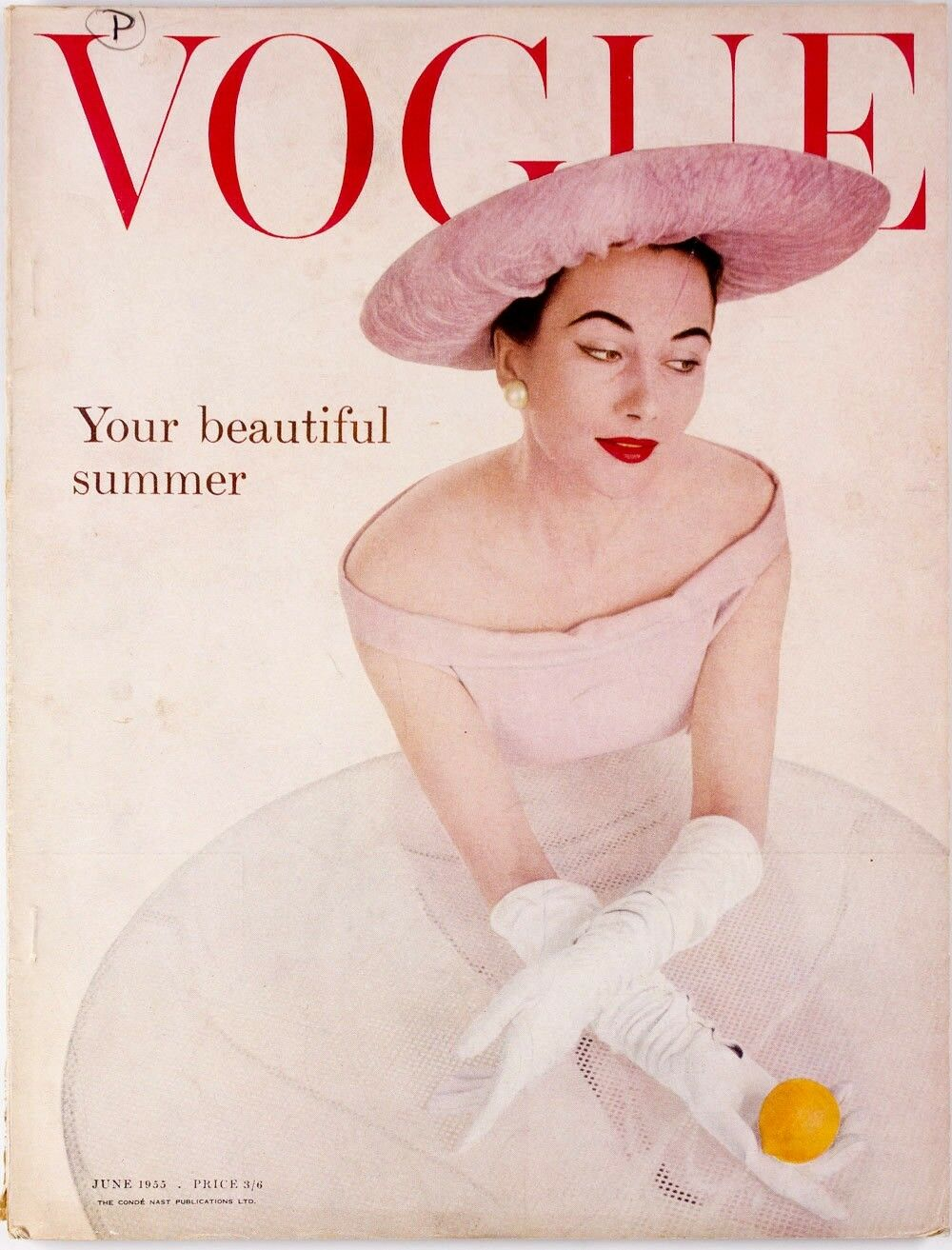 British Vogue Cover June 1955
