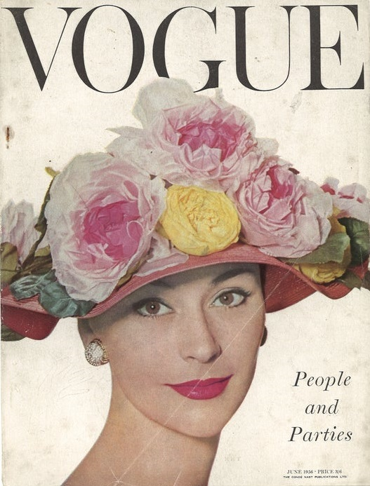 British Vogue Cover June 1956