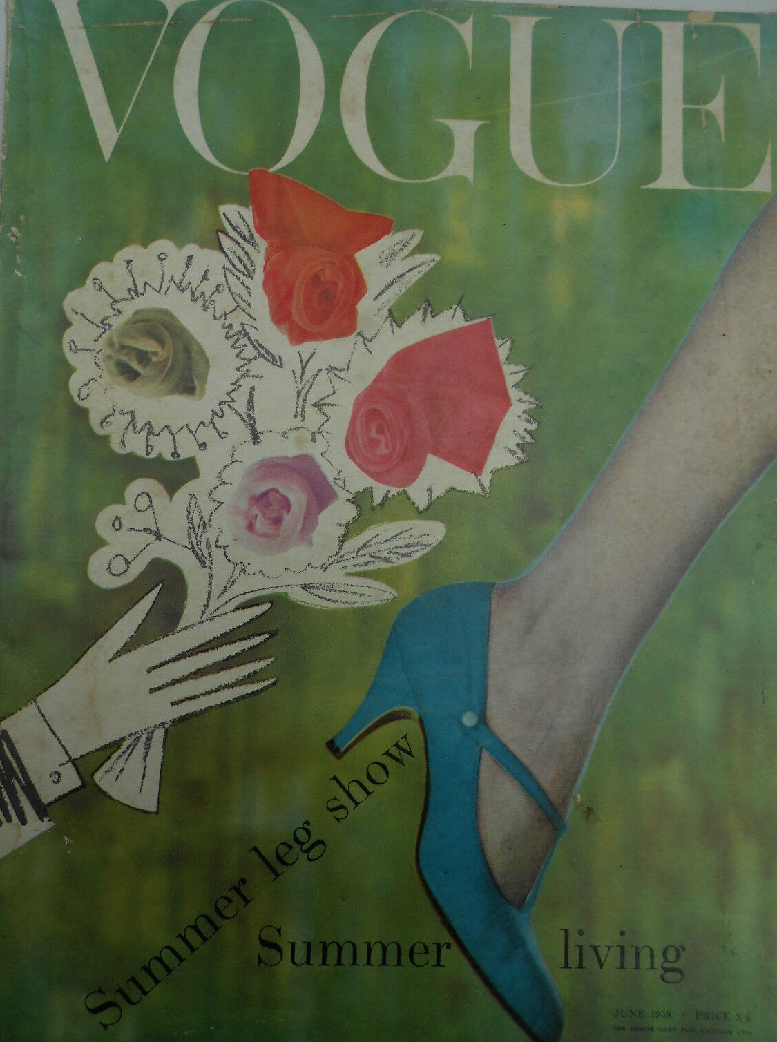 British Vogue Cover June 1958