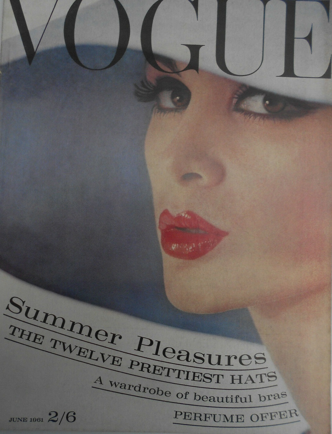 British Vogue Cover June 1961