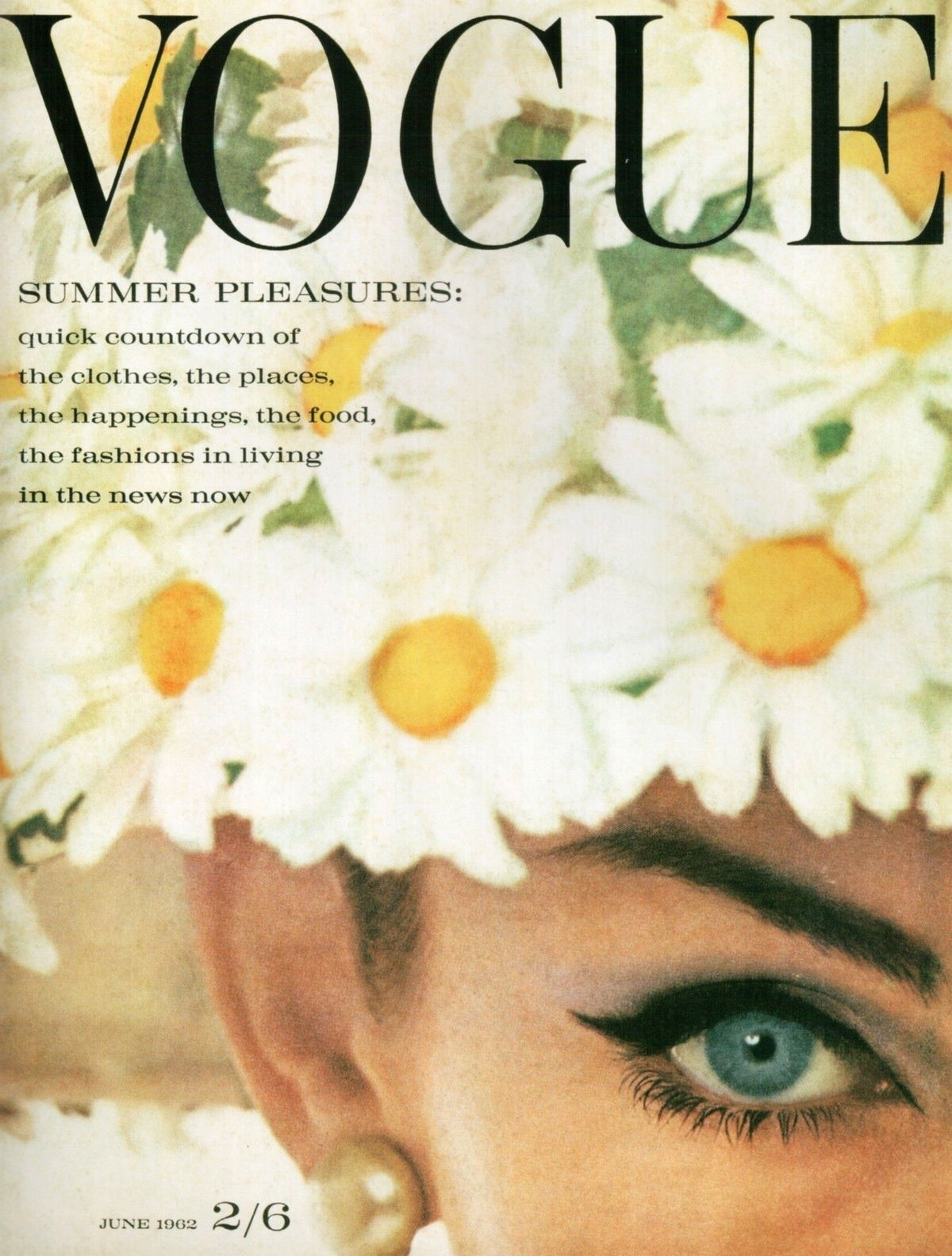 British Vogue Cover June 1962
