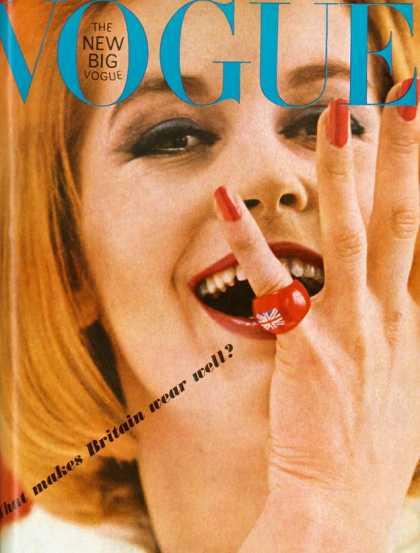 British Vogue Cover June 1963