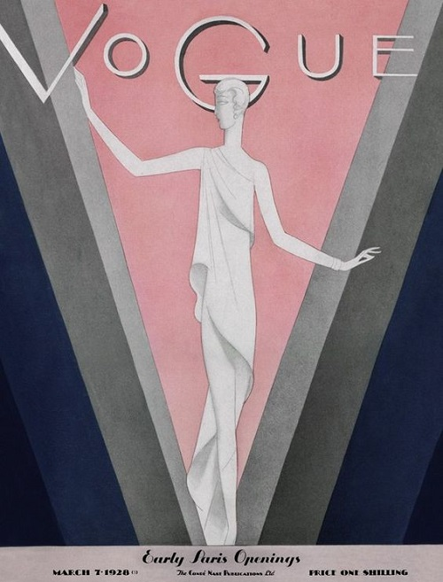 British Vogue Cover March 1928