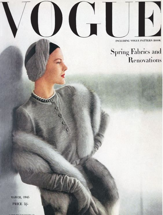 British Vogue Cover March 1945