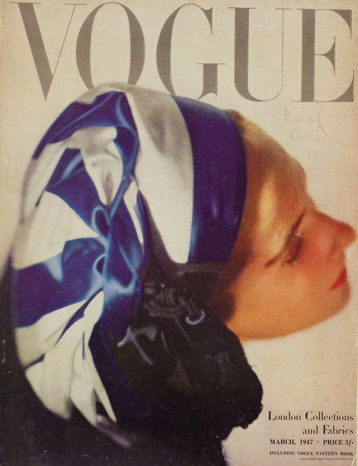 British Vogue Cover March 1947