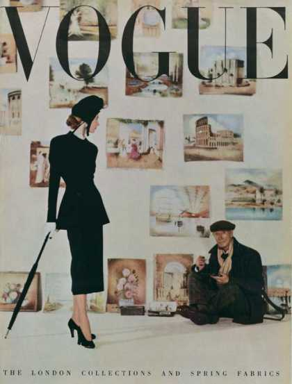 British Vogue Cover March 1948