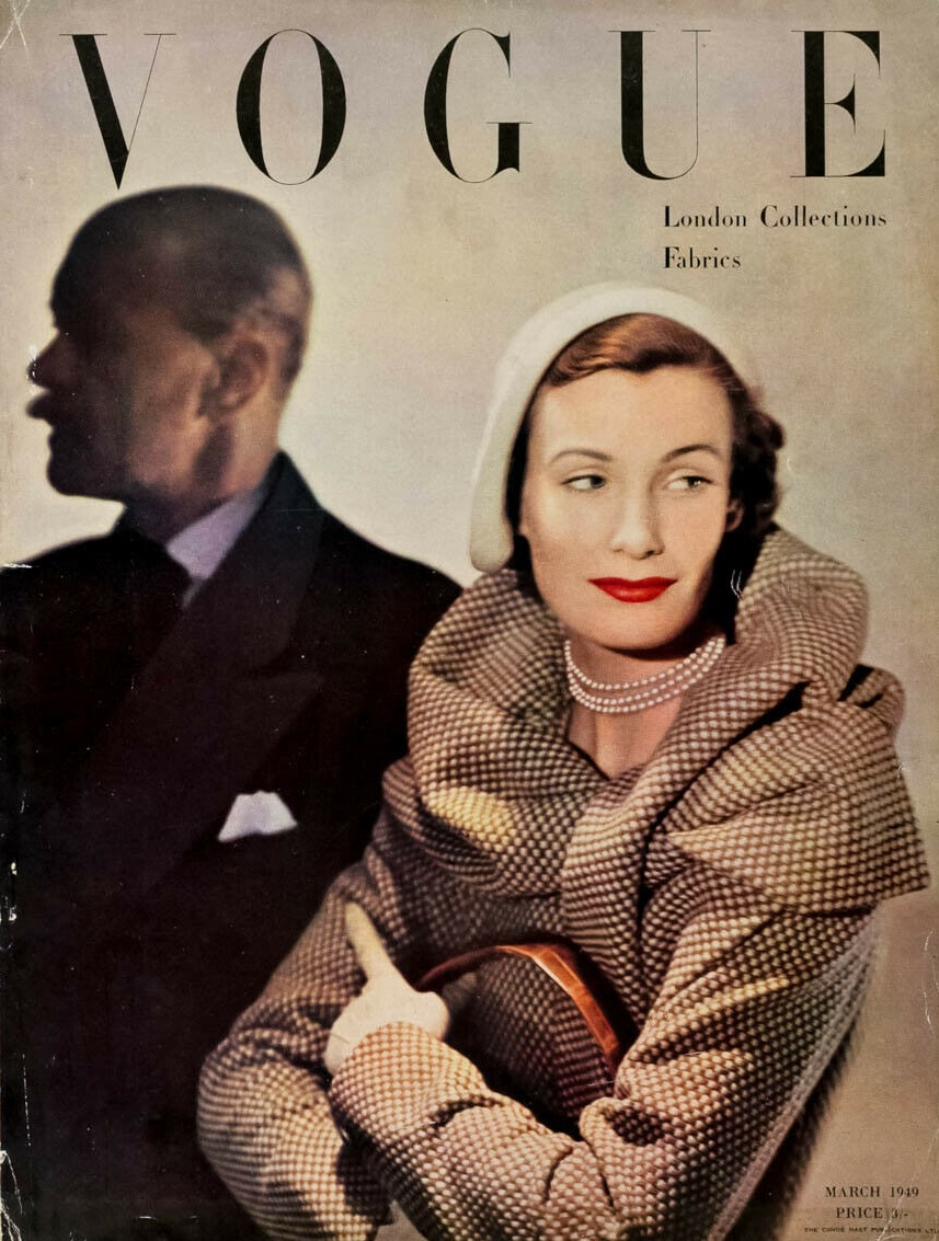 British Vogue Cover March 1949