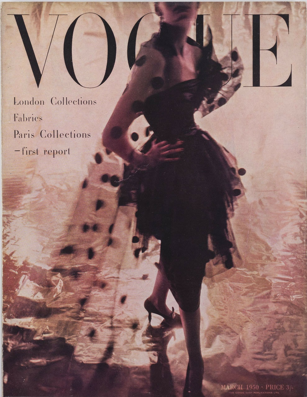 British Vogue Cover March 1950
